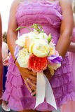 Bridesmaid Flowers Bouquet Stock Photography