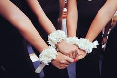 Bridesmaid hands Royalty Free Stock Photos