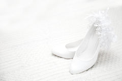 Bridesmaid shoes on light background close-up Royalty Free Stock Photography