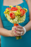Bridesmaid wedding bouquet Stock Photos