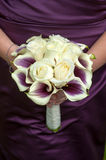 Bridesmaid with wedding bouquet Royalty Free Stock Images