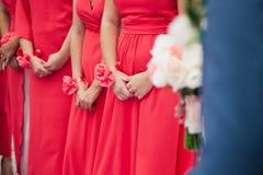 bridesmaids fotografia stock