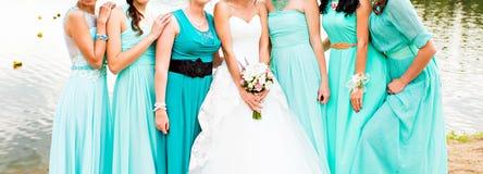 bridesmaids immagini stock