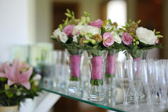 Bridesmaids bouquets Stock Images