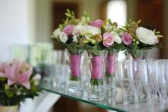 Bridesmaids bouquets stock images