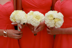 Bridesmaids bouquets. Stock Image