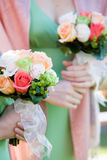 Bridesmaids Bouquets Royalty Free Stock Photography