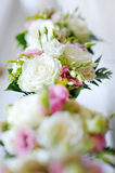 Bridesmaids bouquets for a wedding ceremony royalty free stock image
