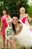 Bridesmaids with bride Royalty Free Stock Photos