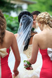 Bridesmaids with bride Royalty Free Stock Image
