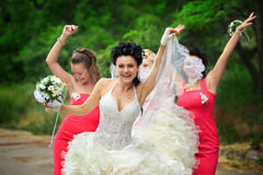 Bridesmaids with bride Royalty Free Stock Photography