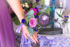 Bridesmaids flowers. Floristic composition in vintage style. Th. E Provence Stock Photos