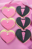 Bridesmaids and Groomsmen wedding cookies Royalty Free Stock Photo