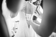 Bridesmaids wear bride Stock Photography