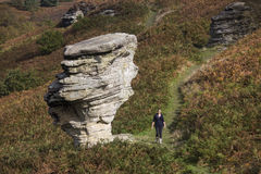 Bridestones -北约克郡-英国 免版税图库摄影