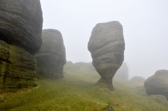 Bridestones at Dawn near Hebden Bridge Royalty Free Stock Image