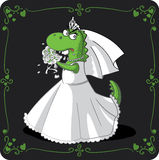 Bridezilla Vector Cartoon Royalty Free Stock Photos