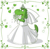 Bridezilla Vector Cartoon Royalty Free Stock Images