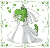 Bridezilla vektortecknad film vektor illustrationer