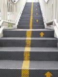 Bridg de acero para el paseo ascendente del paseo abajo del camino para la seguridad Fotos de archivo