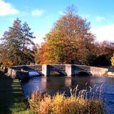 0048Bridge över flodwyen, Derbyshire. Fotografering för Bildbyråer