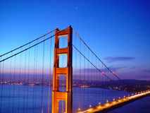 Bridge 1. Golden Gate bridge at night royalty free stock photos