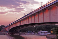 Bridge. In Belgrade Royalty Free Stock Image