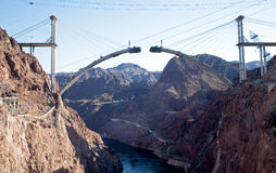 Bridge. Over Colorado River under construction Stock Images