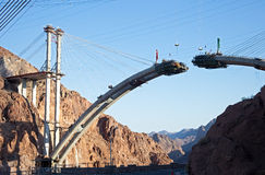 Bridge. At Hoover Dam under construction Stock Images