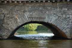 Bridge. Part of an 18th century stone bridge, stone bridge arc. Ekaterinburg (Europe, Russia Royalty Free Stock Image