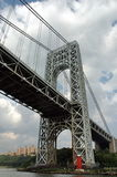 Bridge. George Washington Bridge between New Jersey and New York city Royalty Free Stock Photos
