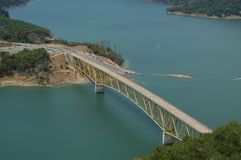 Bridge. Over the Lake Sonoma, California Stock Photo