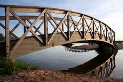 Bridge. Pedestrian bridge across the river Stock Photos