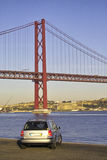 Bridge. In Lisbon Royalty Free Stock Photography