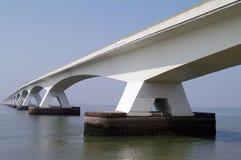 Bridge. Very high and big bridge in Denmark, europe