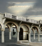 The bridge. Italian imagination collage surrealism collection of surreal Royalty Free Stock Photos