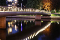 Bridge. In Sweden on Halmstad town Royalty Free Stock Images