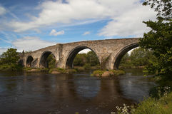 Bridge. Stirling Bridge on sunny day Royalty Free Stock Images