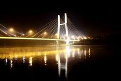 Bridge. Night bridge of the dark sky Royalty Free Stock Photos