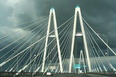 Bridge. Yangtze Bridge of Saint-Petersburg stock photo