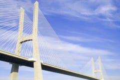 Bridge. Vasco da Gama bridge in Lisbon royalty free stock image
