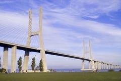 Bridge. Vasco da Gama bridge in Lisbon Stock Image