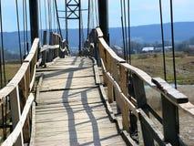 Bridge. Wooden bridge from river at the village Stock Photo