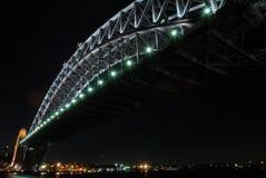 Bridge. A magnificent bridge lighted at night Stock Photo