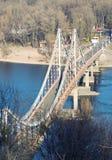 Bridge. Pedestrian bridge across the Dnieper in Kiev Royalty Free Stock Photo