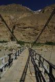 Bridge. On the jeep road to askole in karakoram himalaya Stock Image