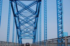 On the bridge Stock Images