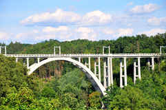 Bridge. Concrete bridge in the South Bohemian royalty free stock images