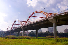 Bridge. China's Shenzhen City, Guangdong Province, a bridge, called the Rainbow Bridge Royalty Free Stock Photos
