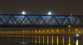 Bridge. A Bridge at night in the netherlands stock image